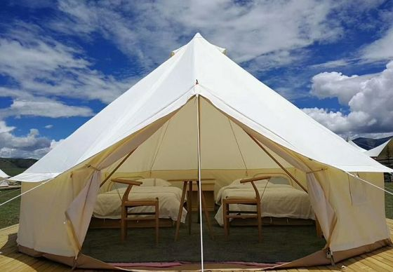 Glamping Luxury Yurt Bell Fire Retardant Tarpaulin Safari Tent Waterproof Canvas Fabric