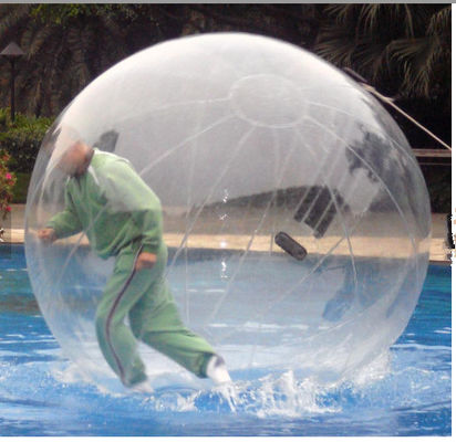 China TPU / PVC Walking Human Hamster Ball Inflatable Running Water Bubble Roller factory