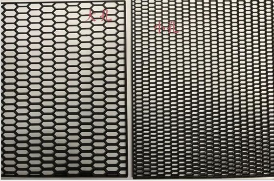 China Carbon Fiber PVC Coated Mesh Black Automobile Network 120cm X 40cm Size factory