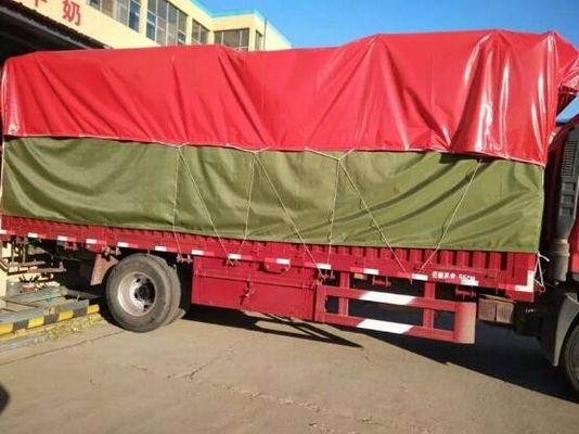 Customized 750gsm PVC Truck Cover , Waterproof Truck Cover 1000D X 1000D