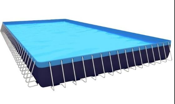 China Durable Lightweight PVC Inflatable Swimming Pool With Metal Frame Home Use factory