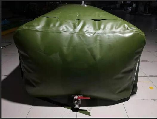 3500L Collapsible Bladder Tank For Fuel , Amry Green High Strength TPU