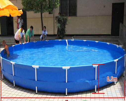 B2 B1 Fire Retardant Round Outdoor Fish Pond 2500L Alkali Resistance Eco Friendly