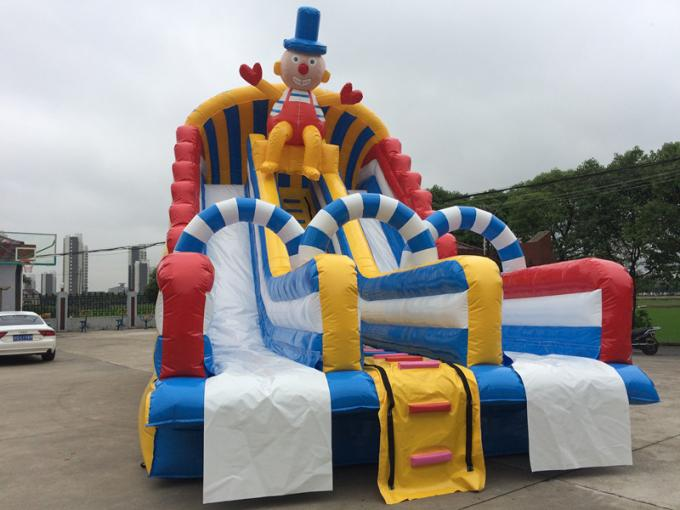 Customized Giant Cartoon Water Slide Bounce House Amusement Park Outdoor Game