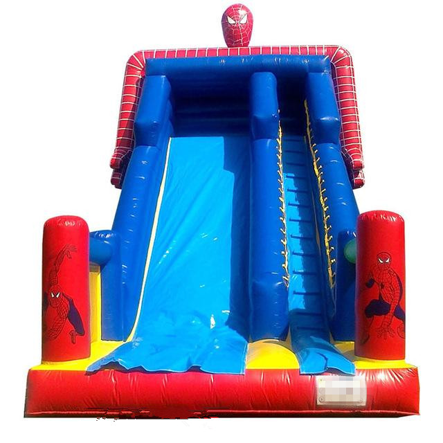 PVC Tarpaulin Inflatable Amusement Park Double Lane Blow Up Slide For Sports Game