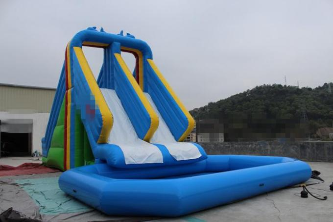 Durable Odorless PVC Outdoor Inflatable Water Slide Park Kids Game Fire Resistance