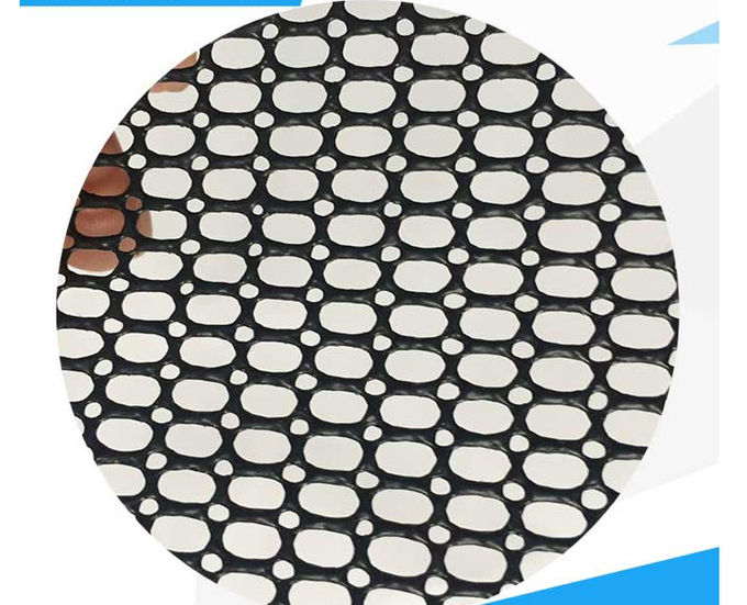 B1 Flame Resistant PVC Coated Mesh Fabric Protective Net Indoors And Outdoors