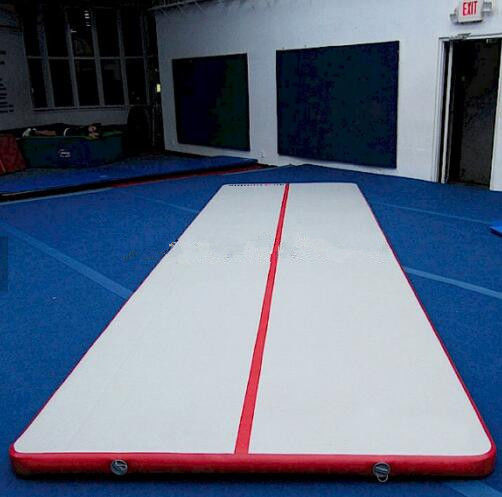 0.9mm Thickness Gymnastics Air Mat , Inflatable Air Track For Physical Training