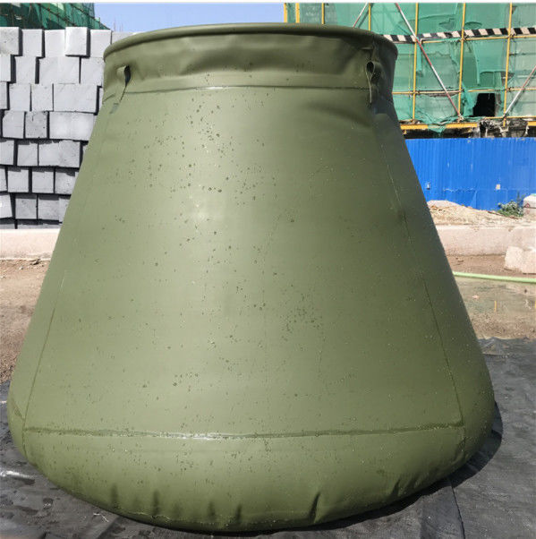 Army Self-Standing PVC Foldable Rain Water Tank Round Top For Fire Fighting 2500L