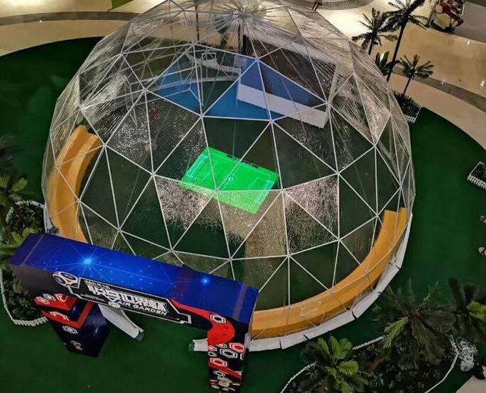 20M  PVC Geodesic Dome Strong Structure Steel Steel Tent Transparent For Outdoor Event