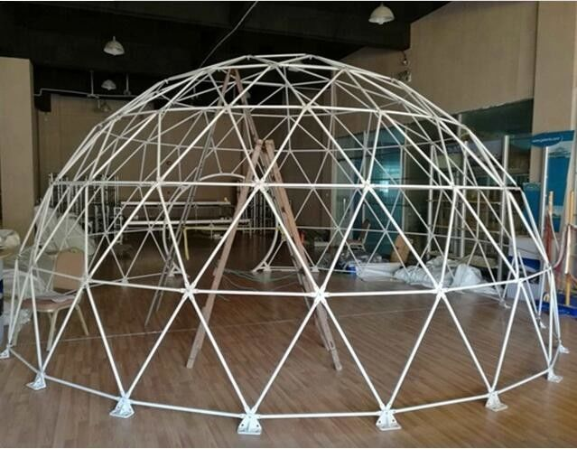Diameter 6M Half Sphere Geodesic Dome Tent For Warehouse With PVC Fabric Cover