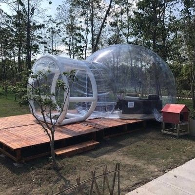 Hotel Clear Inflatable Bubble Tent , Outdoor Inflatable Transparent Tent For Camping