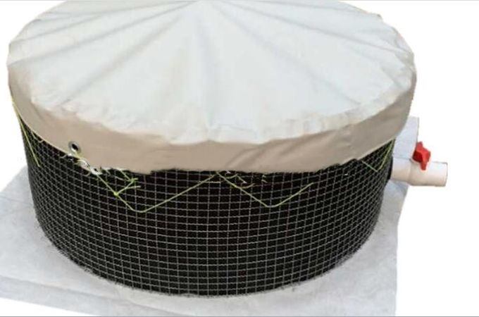 20000 L PVC Fish Farming Tanks, Flexible Tarpaulin Wire Mesh Tank For Agricultural