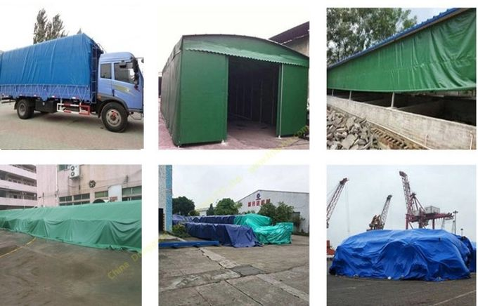 780g Waterproof PVC Coated Polyester Fabric Tarpaulin Truck Cover UV Protection