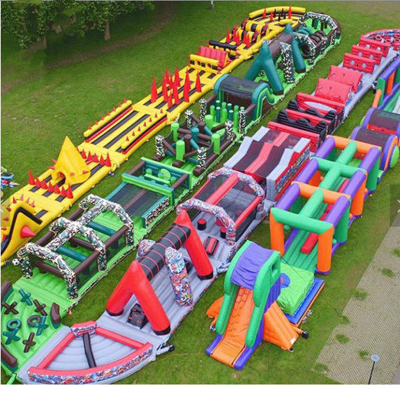 10-15 Children Play Inflatable Jumpers 0.55mm Tarpaulin Sewing Castle Bounce House