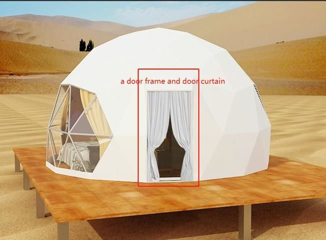 Geodesic Dome House Steel Tent For Outdoor Event Economical Family Camping Hotel Dome Tent 0