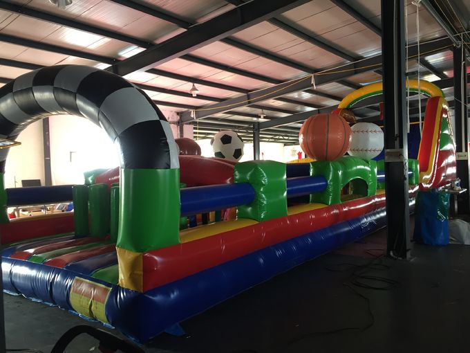 Huge Interactive Challenge Inflatable Obstacle Course Bounce House Aqua Park Ninja Parcours 1