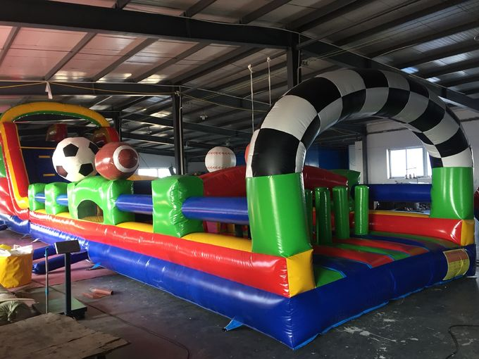 Huge Interactive Challenge Inflatable Obstacle Course Bounce House Aqua Park Ninja Parcours 0